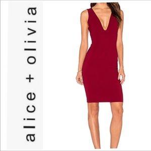 Alice + Olivia Esmira Sheath Dress Bordeaux Size 6